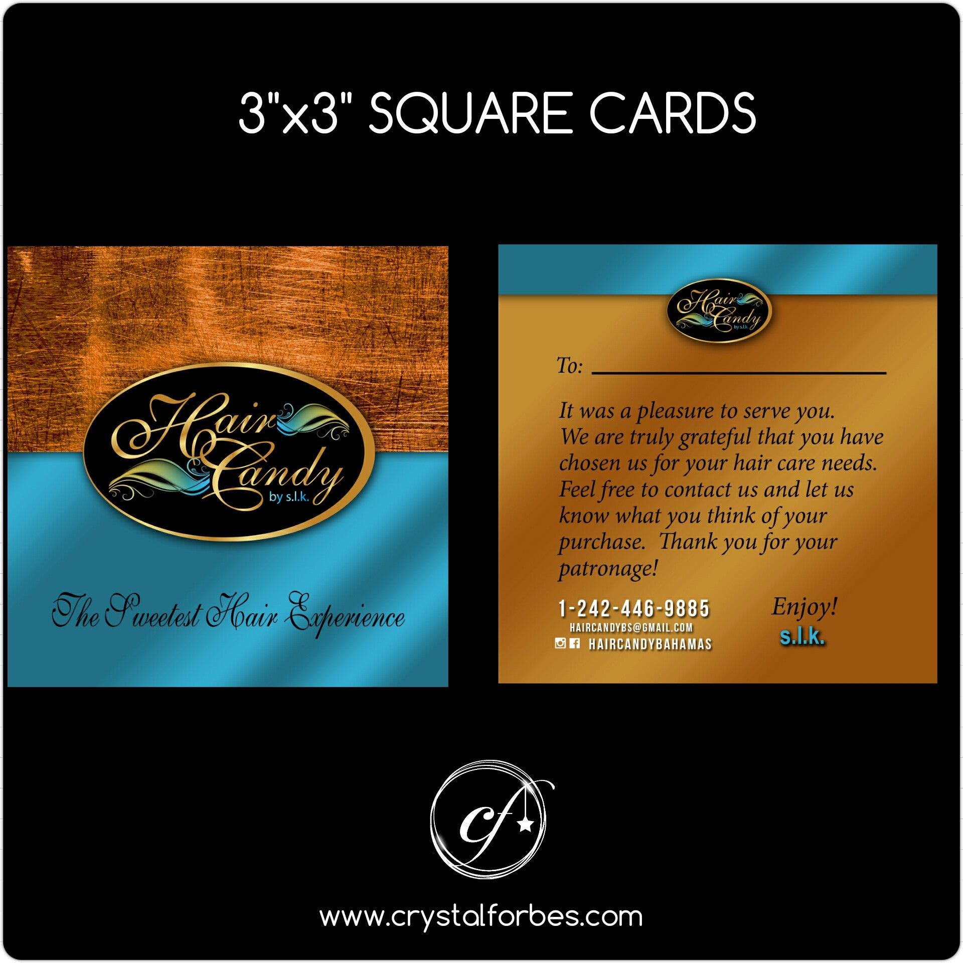 "3"" x 3"" Square Shaped Cards"