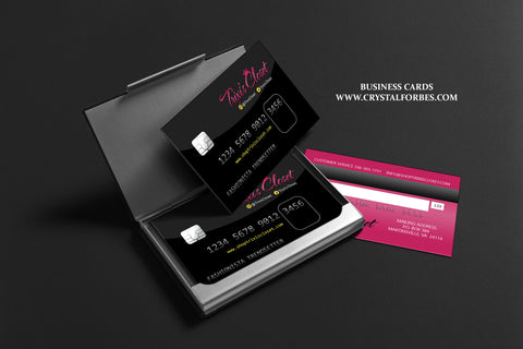 Business cards credit card style crystal forbes design studio business cards credit card style colourmoves