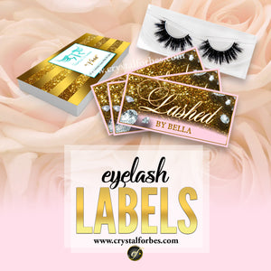 Eyelash Labels (labels only, cases not included)