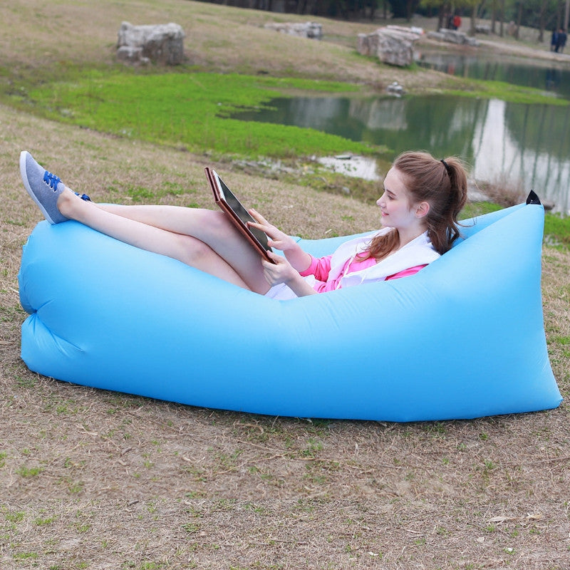 Inflatable Nylon Sofa, Chair, Lounge - Easy To Carry And Fill With Air - Blackwater River Emporium - 1