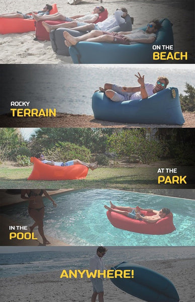 Inflatable Nylon Sofa, Chair, Lounge - Easy To Carry And Fill With Air - Blackwater River Emporium - 2