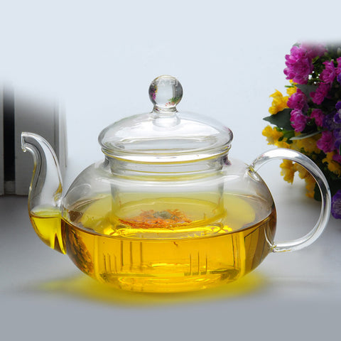 Glass Teapot with Infuser - Blackwater River Emporium - 1