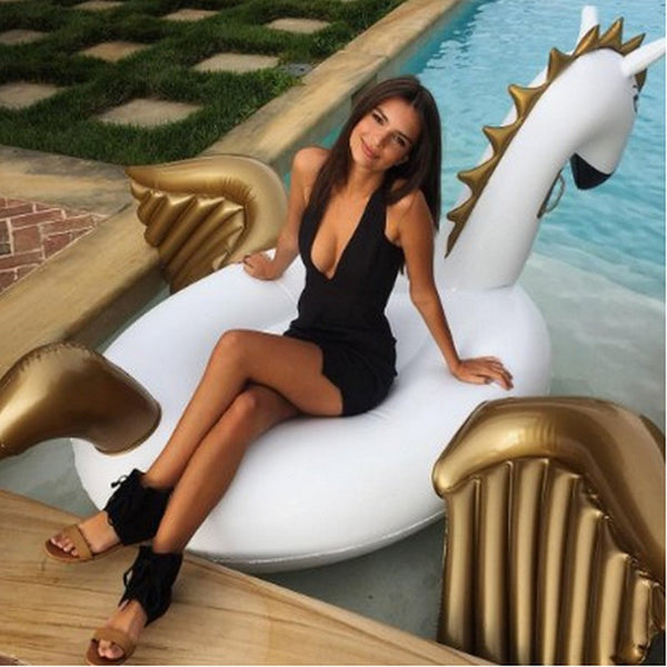 "94"" -250cm Giant Inflatable Pegasus Pool Float - Blackwater River Emporium - 5"