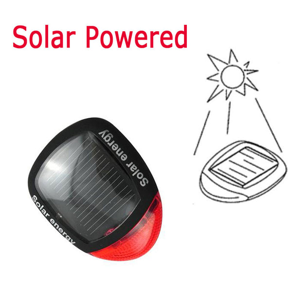 Solar Power LED Flashing Bicycle Light For  Rear Tail Lamp - Blackwater River Emporium - 2