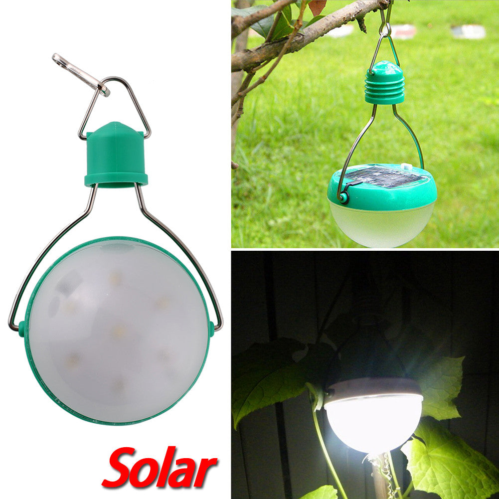 Portable, Waterproof Solar Outdoor 7 LED Camping Lantern - Hanging Lamp - Blackwater River Emporium