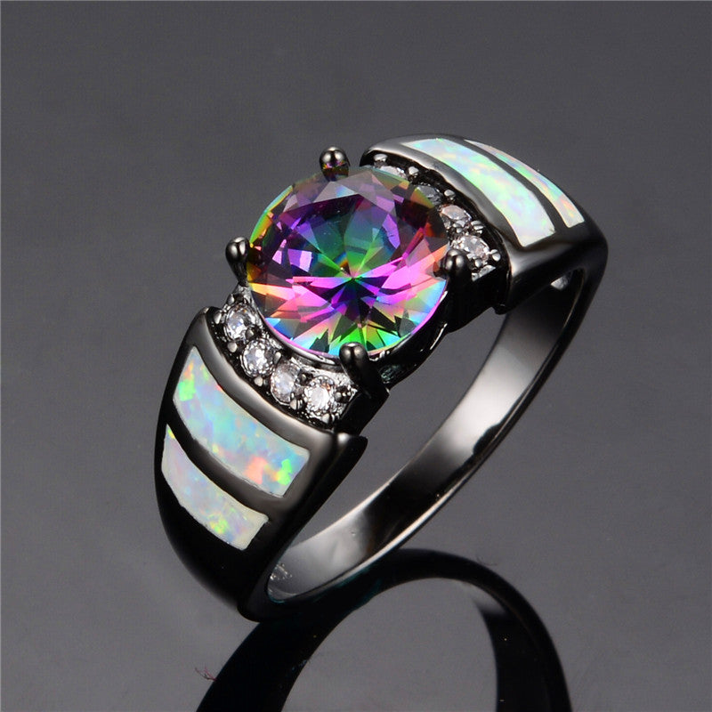 10KT Black Gold Filled Rainbow Opal - Blackwater River Emporium