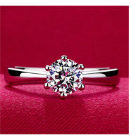 Classic Design Simulated Diamond Ring - Blackwater River Emporium - 1