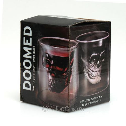 1pc Doomed Crystal Skull Shot Glass - Blackwater River Emporium - 1