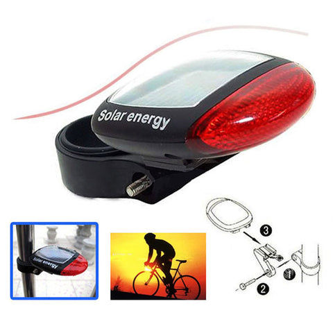 Solar Power LED Flashing Bicycle Light For  Rear Tail Lamp - Blackwater River Emporium - 1