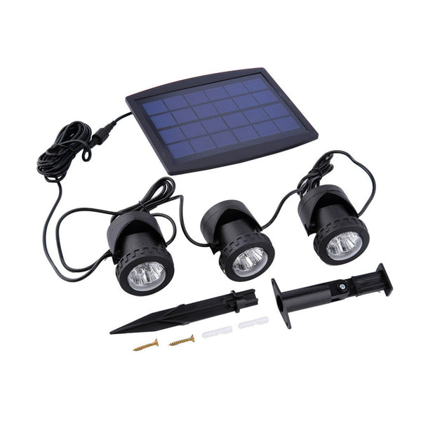 3 Underwater Solar Lights with Charging Panel Available in Your Choice Of Blue, White, Or Changeable Colors - Blackwater River Emporium - 2
