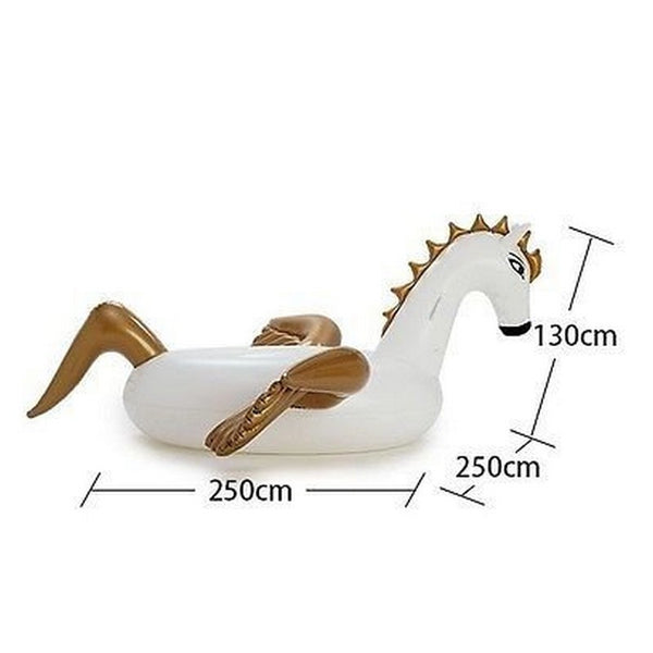 "94"" -250cm Giant Inflatable Pegasus Pool Float - Blackwater River Emporium - 4"