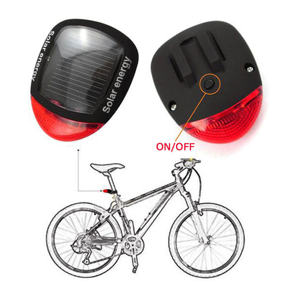 Solar Power LED Flashing Bicycle Light For  Rear Tail Lamp - Blackwater River Emporium - 3
