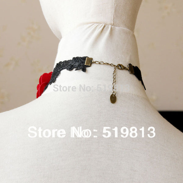Lace Black Choker Necklace - Blackwater River Emporium - 2