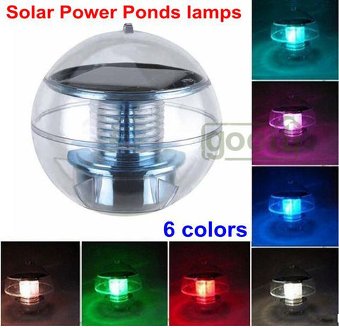 Solar Powered Floating LED Ball for Pools, Ponds, Spas, or other Water Features - Blackwater River Emporium - 1