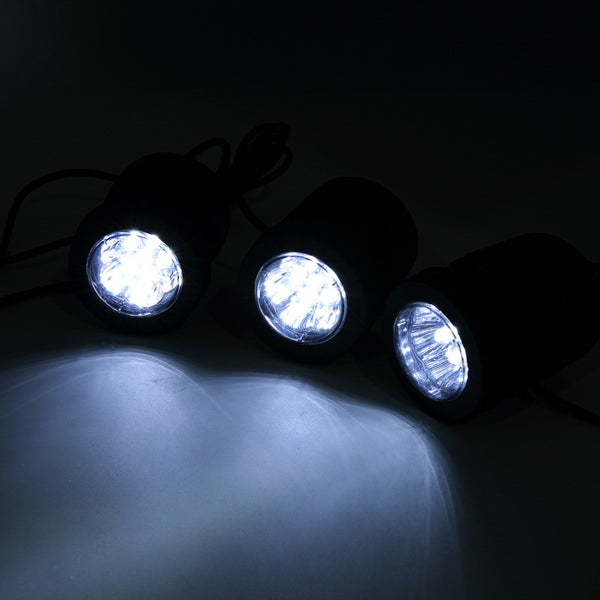 3 Underwater Solar Lights with Charging Panel Available in Your Choice Of Blue, White, Or Changeable Colors