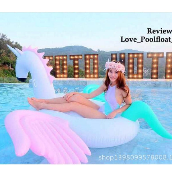 "94"" -250cm Giant Inflatable Pegasus Pool Float - Blackwater River Emporium - 2"