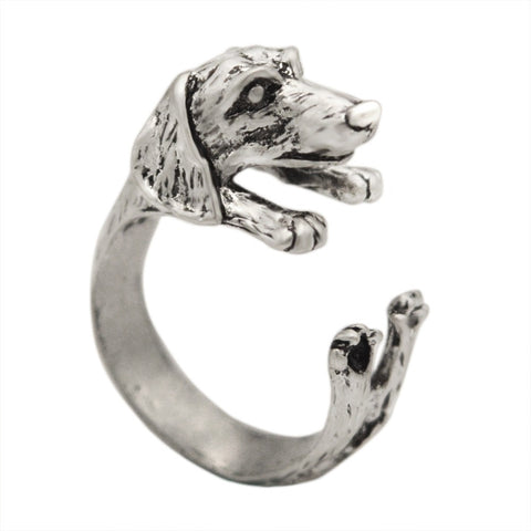 Dachshund Dog Rings- Animal Wrap Ring Adjustable Size - Blackwater River Emporium