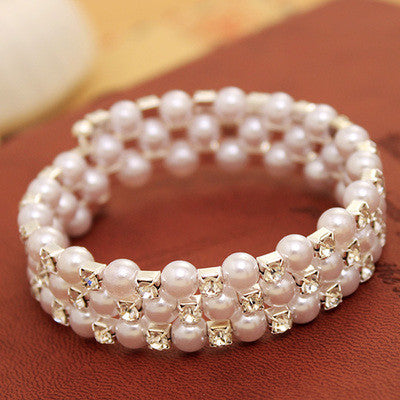 Bead And Crystal Wrap Bracelet.  Your Choice Of 3 Or 5 Layer Wrap