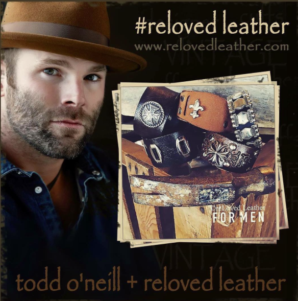 reLoved Leather Cuffs will launch The Todd O'Neill Collection Spring 2016