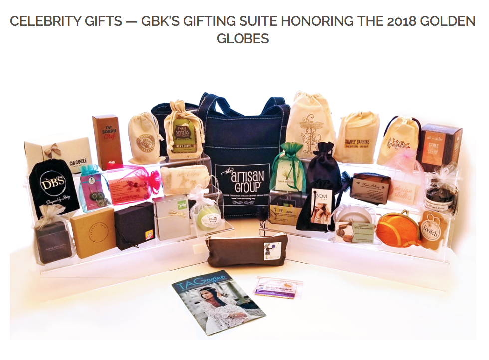 Celebrity Gifts - GBK's Gifting Suite Honoring the 2018 Golden Globes - reLoved Leather Designer Unisex Cuffs