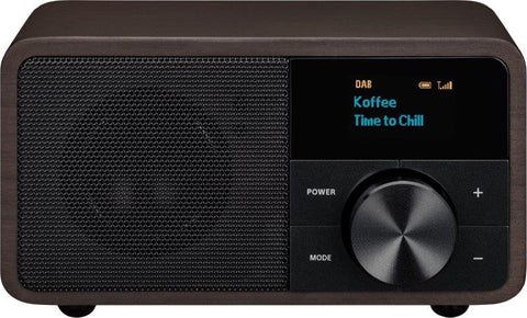 DDR-7 DAB+ / FM-RDS / Aux-in / Bluetooth Compact Wooden Cabinet Radio