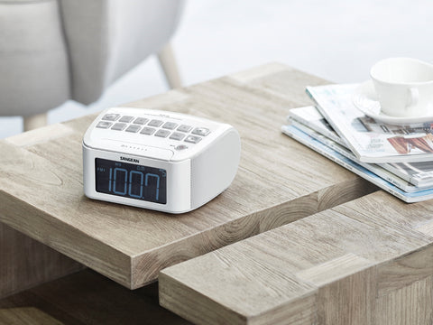 Sangean RCR-24 White Clock Radio