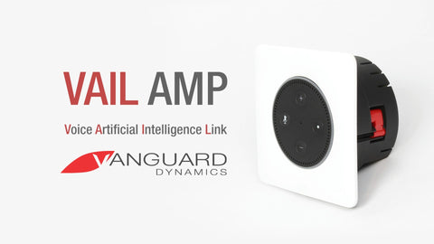 Vail Amp - Flush Mount In-Wall Stereo Amplifier for Amazon Echo Dot (2nd Generation)