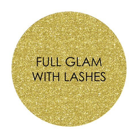 FULL GLAM WITH LASHES
