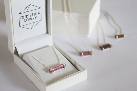 'Charlotte' Tourmaline Crystal Necklace