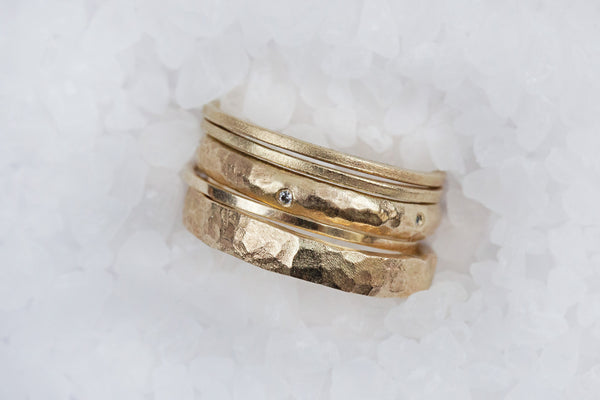Embrace - Gold and Diamond Wedding Ring