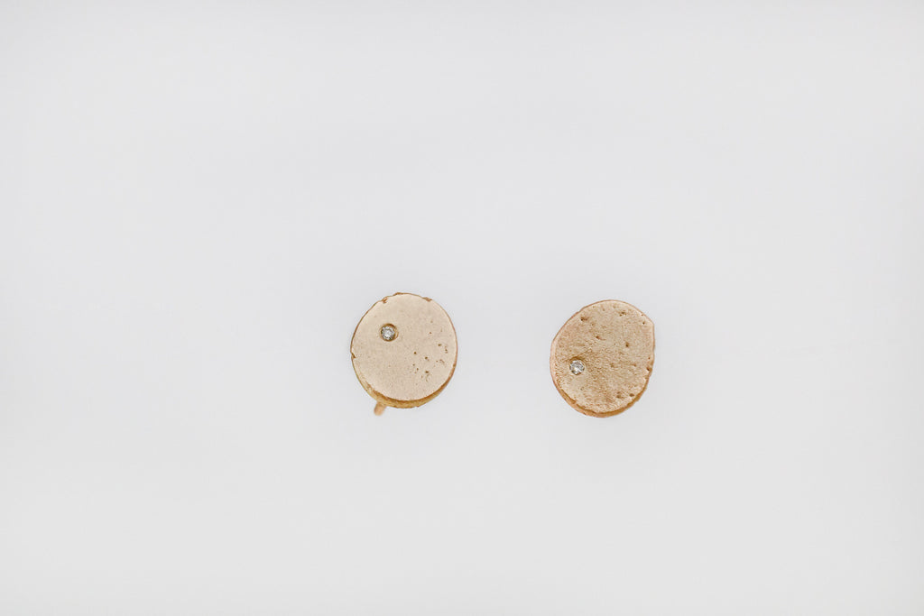 Satisfied - Gold and Diamond Studs