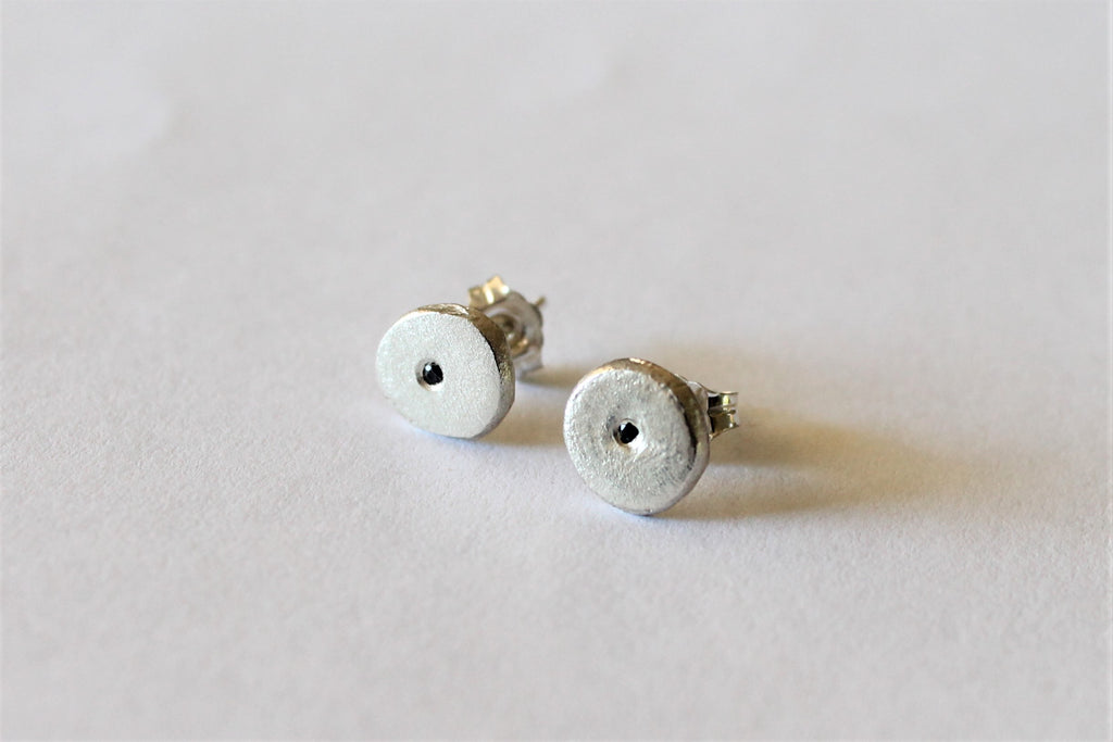 Journey - Silver and Black Sapphire Studs