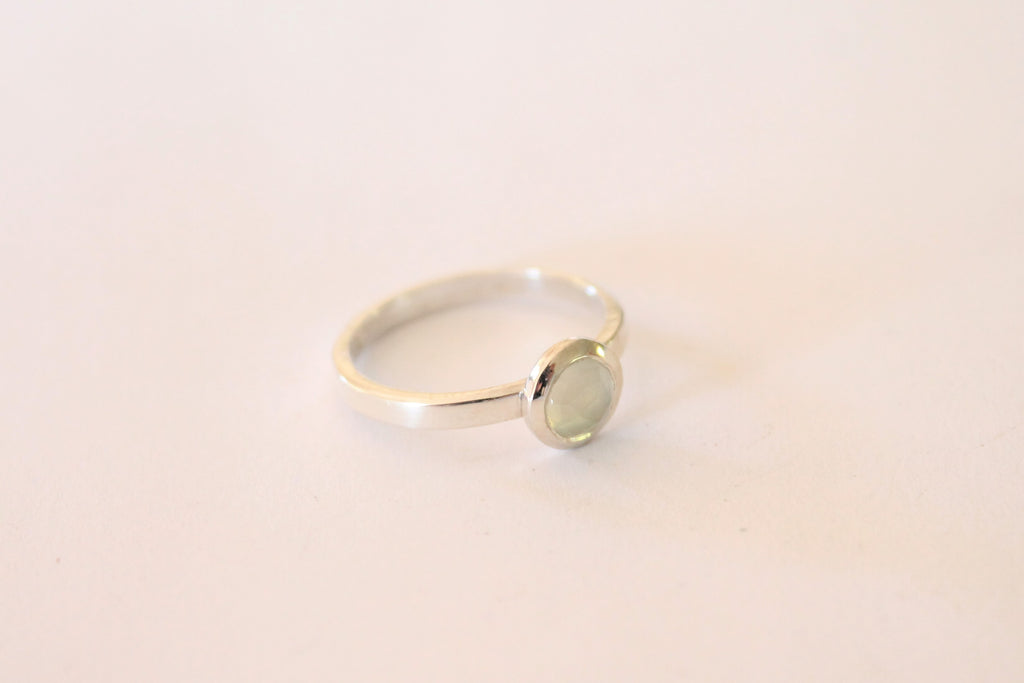 Sweet Sunday - Silver and Aqua Chalcedony Ring