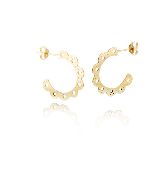 Lois Hoops - 9ct Gold