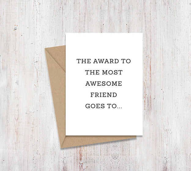 Awesome Friend Mirror Card