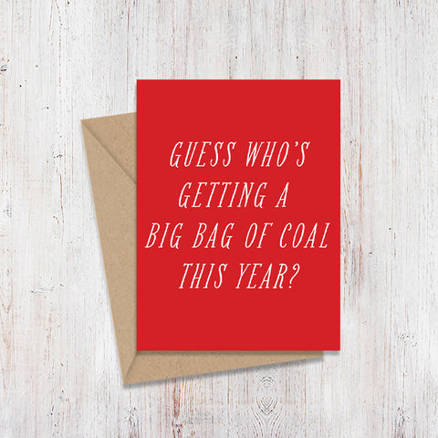 Coal Mirror Christmas Card