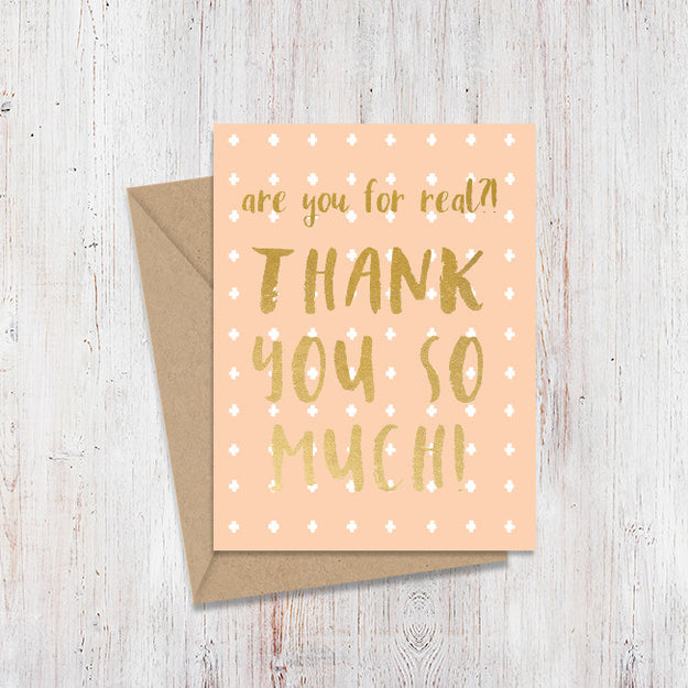 Thank You So Much! Gold Foil Card