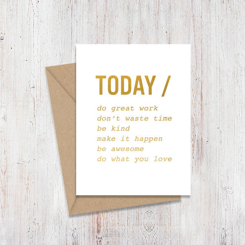 Today Gold Foil Card