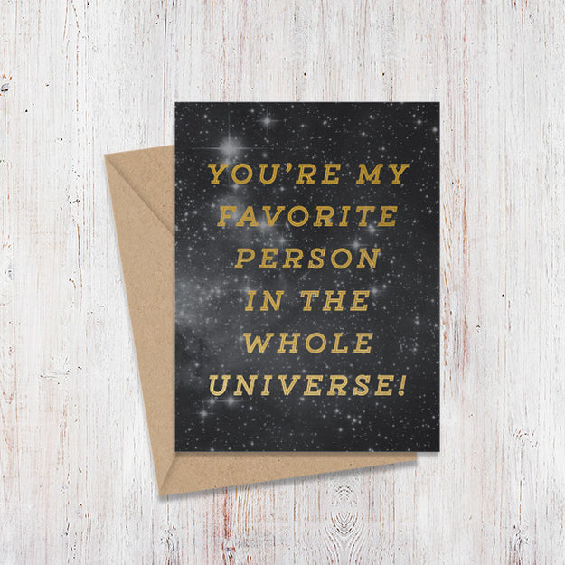 Favorite Person Universe Gold Foil Card