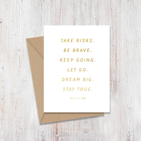 Motivation Arrow Gold Foil Card