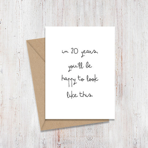 20 years Mirror Card