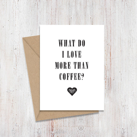 Coffee Mirror Card