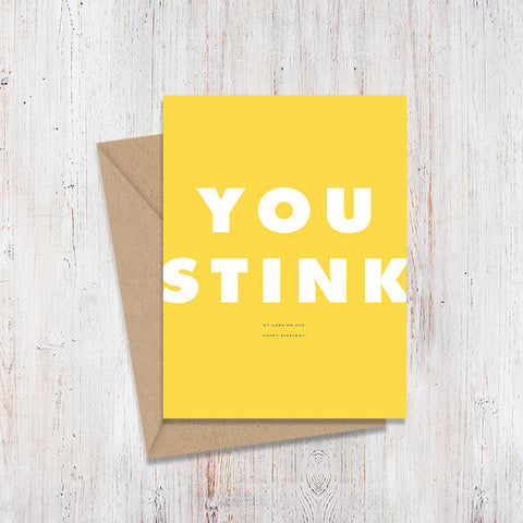 You Stink Birthday Magnify Card