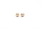 Hexagon Faceted Earring Studs Gold
