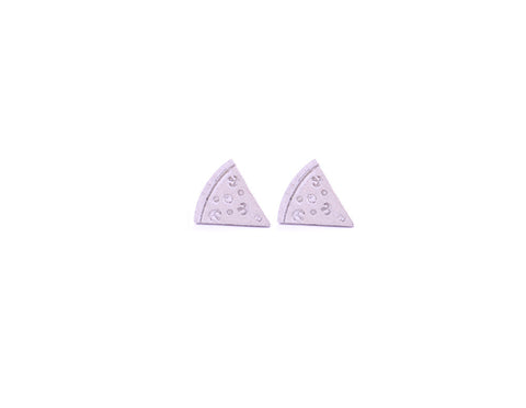 Pizza Earring Studs Silver