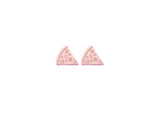 Pizza Earring Studs Rose Gold