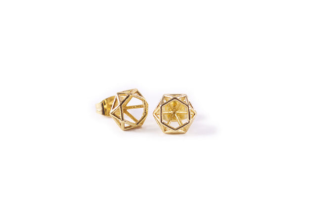 Prism Earring Studs Gold