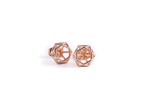 Prism Earring Studs Rose Gold