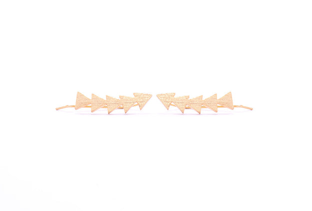 Triangle Earring Climber Gold