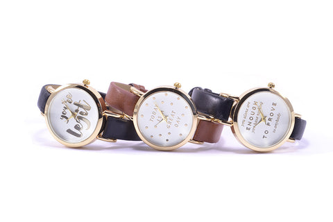 Great Day Gold Foil Watch
